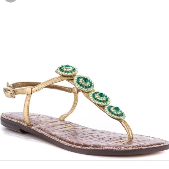 d316b2284dab Sam Edelman Shoes - Sam Edelman Galia Sandals- Effergi Gold Met Green